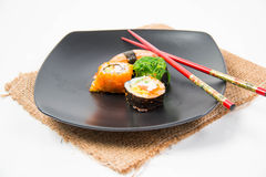 Close up the delicious Japanese sushi Royalty Free Stock Image