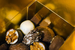Close up of delicious luxury chocolate Royalty Free Stock Photo
