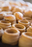 Close up of delicious vol-au-vent Royalty Free Stock Photo