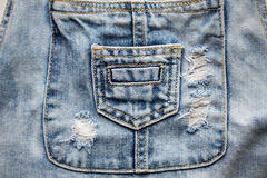 Close up of denim clothes or jeans with pocket Stock Photo