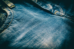 Close-Up Of Denim Jeans, vintage look Royalty Free Stock Photos