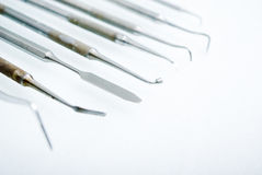 Close up dental instruments Royalty Free Stock Images