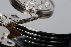 Close up dentro do disco rígido foto de stock