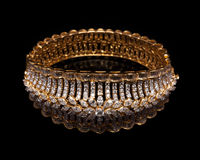 Close up of designer diamond bracelet Royalty Free Stock Image