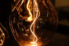 Close up of designer pendant light installation Stock Images