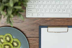 Close-up of desk office Stock Images