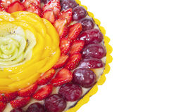 Close-up dessert cake isolated Royalty Free Stock Image
