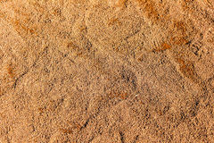 Close-up detail of a baseball stadium's infield clay surface. Royalty Free Stock Image