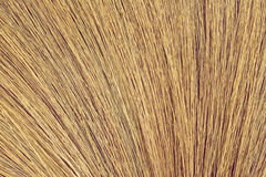 Close up detail of a broom texture Royalty Free Stock Photography