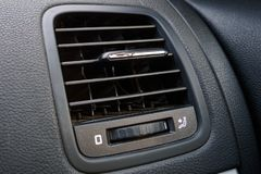 Close-up detail of car air conditioning, ventilation in car stock photography