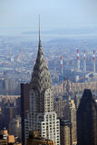 Close up detail of Chrysler building Stock Photography
