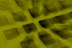 Close up detail of a computer keyboard stock photo