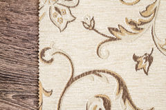 Close Up Detail of Cream Color Fabric Texture Royalty Free Stock Image