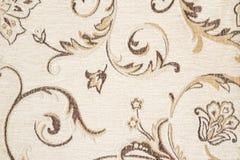 Close Up Detail of Cream Color Fabric Texture Stock Photos