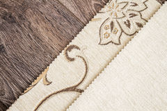 Close Up Detail of Cream Color Fabric Texture Stock Photo