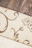 Close Up Detail of Cream Color Fabric Texture Royalty Free Stock Photography