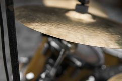 Close up on a detail of a drum kit. Close up on a detail of a drum kit stock photo