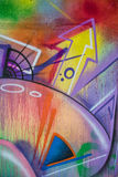 Close-up detail of graffiti painting Royalty Free Stock Images