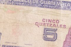 Guatemala paper money Stock Images