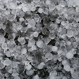 Hail, hailstones - frozen ice macro Stock Photo