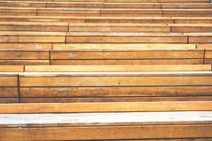 Close-up detail of lines and grain on old wood steps.  stock photography