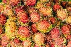 Close-up detail of lychee fruit on the market Royalty Free Stock Photo