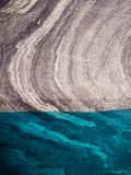 Close up detail of the marble cathedral in Chile. Carretera Austral in Patagonia. Detail of the marble and the colour of the water in Lake General Carrera royalty free stock photo