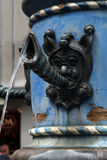 Close-up detail of medieval fountain , Lucerne, Switzerland. Stock Images