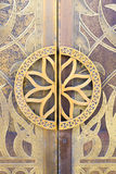 Close-up of detail on a mosque door, Dubai Stock Photography