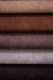 Close Up Detail of Multi Color Fabric Texture Samples Stock Images