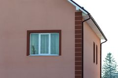 Close-up detail of new modern house.  Stock Image