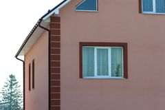 Close-up detail of new modern house.  Stock Images