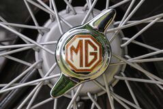 Free Close Up Detail Of An MG Logo On A 2 Eared Knockoff Stock Photos - 169036393