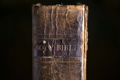 Close up Detail of Old Bible. Close up Detail of an Old Bible Royalty Free Stock Photography