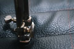 Close up Detail of old sewing machine with a low depth of field, traditional, autentic sewing royalty free stock images