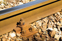 Close up detail of a rail track Stock Image