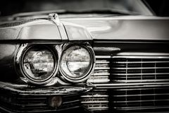 Close up detail of restored classic American car. Stock Photography