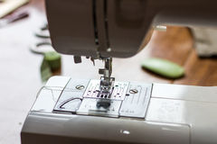 Close-up detail of the sewing machine. Needle Royalty Free Stock Photos