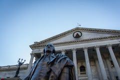 Close-Up Detail Shot South Carolina State House Statue Columns Stock Photos