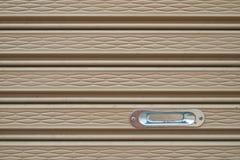 Texture of slide door. Close up of detail of slide door Royalty Free Stock Images