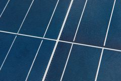 Close up detail of solar panel. Detail of the solar panel network Royalty Free Stock Photo