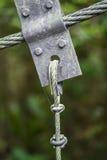 Close up detail of suspension bridge Stock Images