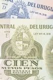 Uruguay paper money Royalty Free Stock Photos