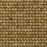 Close up detail view of a wicker basket weave Royalty Free Stock Photography