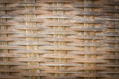 Close up detail view of a wicker basket weave . Royalty Free Stock Photography