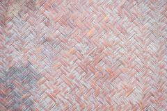 Close up detail view of a wicker basket weave Stock Images