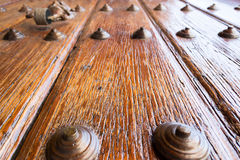 Close up detail of a vintage colonial door Stock Photography