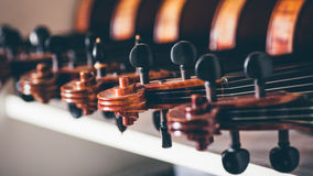 Close up of detail of violin Royalty Free Stock Image