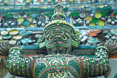 Close up detail of Wat Arun Temple Stock Photography