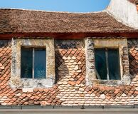 Free Close Up Detail With A Worn Out Old Medieval Building In The Center Of Brasov, Romania Stock Photo - 190529240